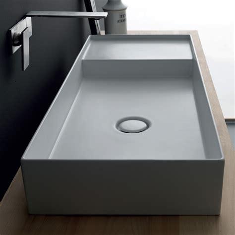 lavabo bagno rettangolare lavabo rettangolare moderno in ceramica colorata icon