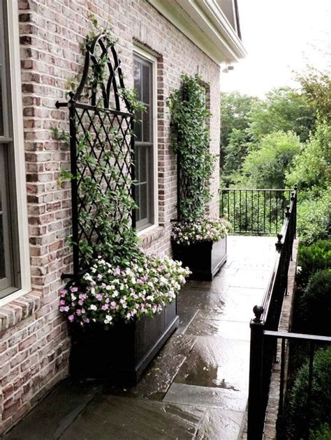 house trellis designs container with trellis for a bare spot against house outdoor lovley pinterest