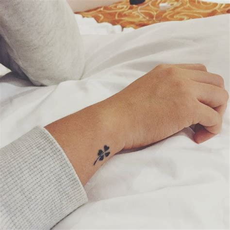 pinterest tattoo on wrist little wrist tattoo of a for leaf clover tattoos