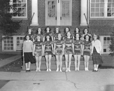 """broadway (high) school, women's basketball team posing in"