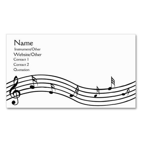 musical note card template 2150 best images about business card templates on