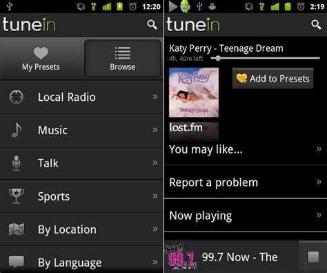 tunein radio android android apps tunein radio pro v7 2