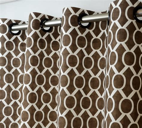 Brown And White Curtains Brown And White Geometric Curtains Home Design Ideas