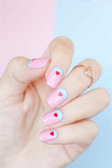 simple valentines day nails 2 easy s day nail ideas with ncla toppers