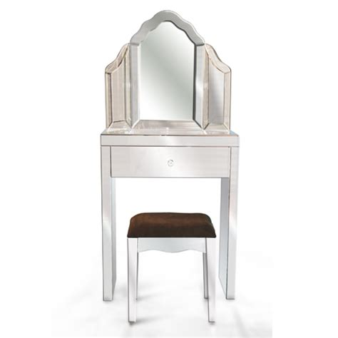 Glass Vanity Table With Mirror Glass Dressing Table