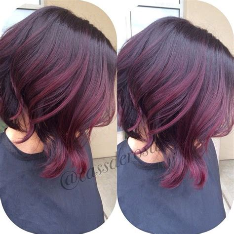 cherry hair pictures short hair violet red tones hair pinterest bobs i love and nice