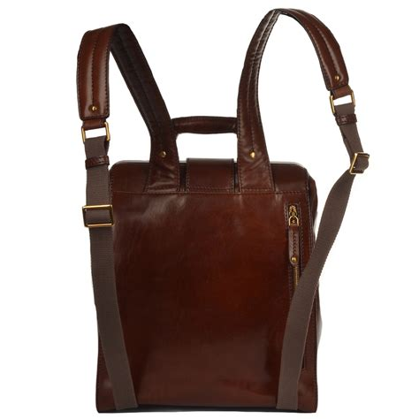 S Leather Backpack Brown womens italian leather backpack brown 68107 01 14 nh