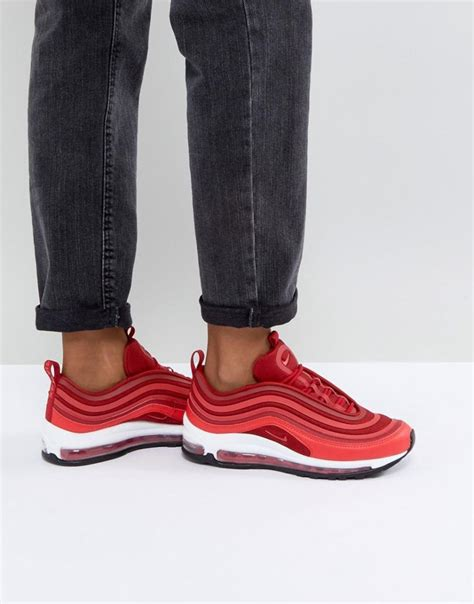 rouge nike air max  ultra  baskets rouge femme