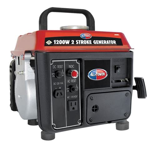 all power 1 200 watt 2 stroke gasoline powered portable