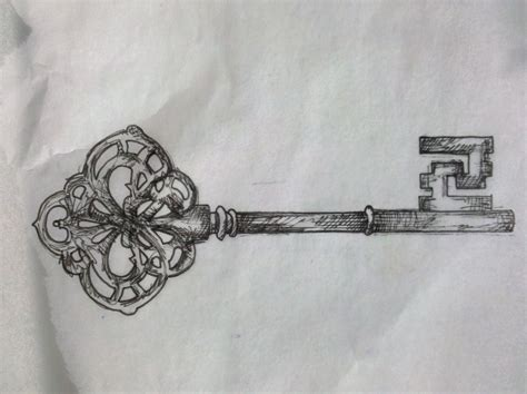 skeleton key tattoos designs vintage skeleton key design ideas