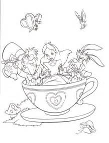 free printable alice wonderland coloring pages kids