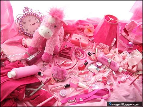 pink girly stuff cosmetic things