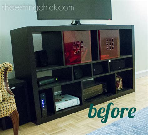 how to paint ikea furniture paint ikea furniture updated tv stand shoestring chick