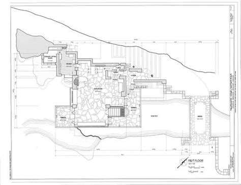 falling water floor plan frank lloyd wright fallingwater ground floor plan