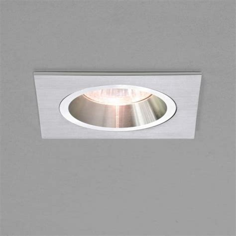 Halogen Recessed Ceiling Lights Astro Lighting Taro Square Single Light Fixed Halogen Recessed Ceiling Fitting In Brushed