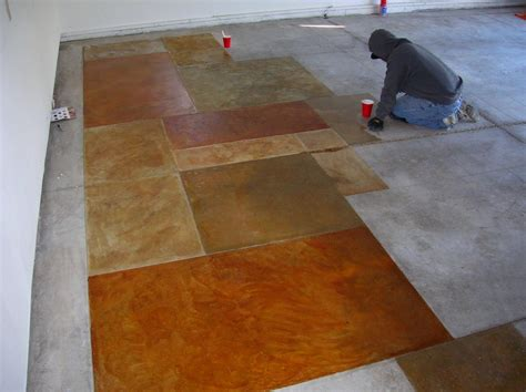 Cement Floor Stain by Weekend Diy Sealing Concrete Floors Rentcafe Rental