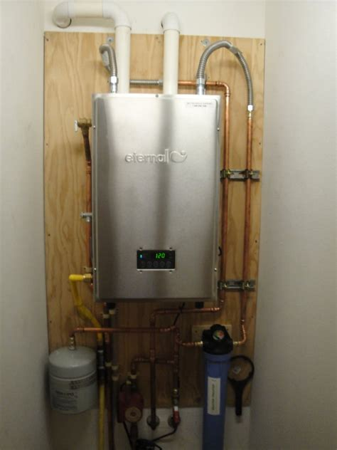 Bowers Plumbing by Eternal Hybrid 98 199 000btu Tankless Water Heater Yelp