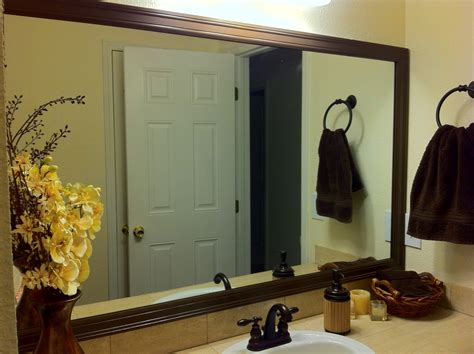 Diy Bathroom Mirror Frame Miscellanea Etcetera Diy Bathroom Mirror Frame For Less Than 20