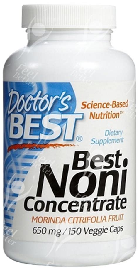 Noni Detox by Drs Best Organic Noni Concentrate Capsules 650mgx150