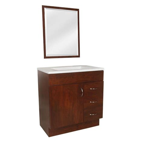 St Paul Bathroom Vanity by St Paul Vanguard 30 In Vanity In Hazelnut With Ab