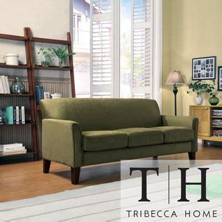 tribecca home uptown microfiber suede modern sofa by