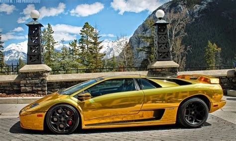 gold lamborghini tunned ferrari f40 the gold lamborghini diablo spotted