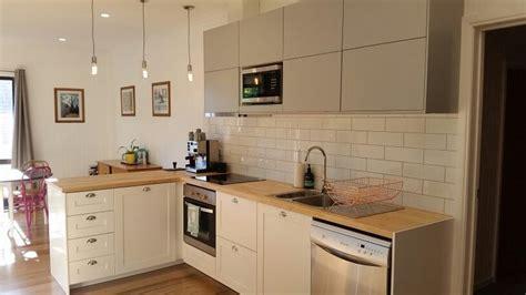 ikea upper kitchen cabinets our ikea kitchen savedal cabinets birch worktops