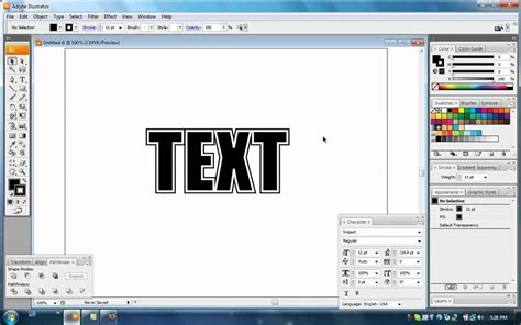 tutorial illustrator effects illustrator tutorial basic text effects