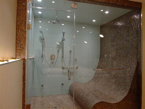 Barrier Free Bathroom Design by Steam Shower For Three