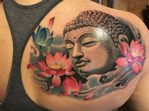 big buddha tattoo buddha and lotus by mike at big buddha