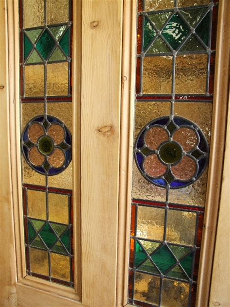 reclaimed stained glass doors antique reclaimed stained glass front door stained glass