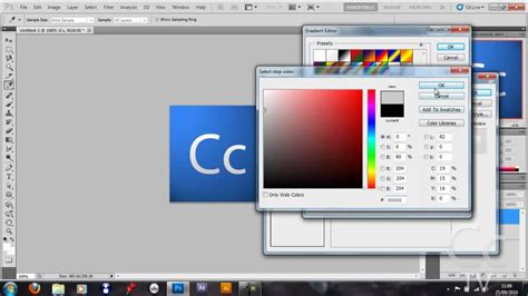 photoshop cs5 tutorial for beginners video tutorial one how to make an adobe style logo in