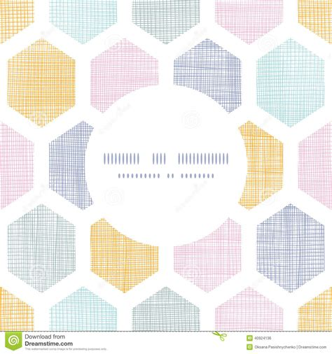 honeycomb pattern frame abstract colorful honeycomb fabric textured frame stock