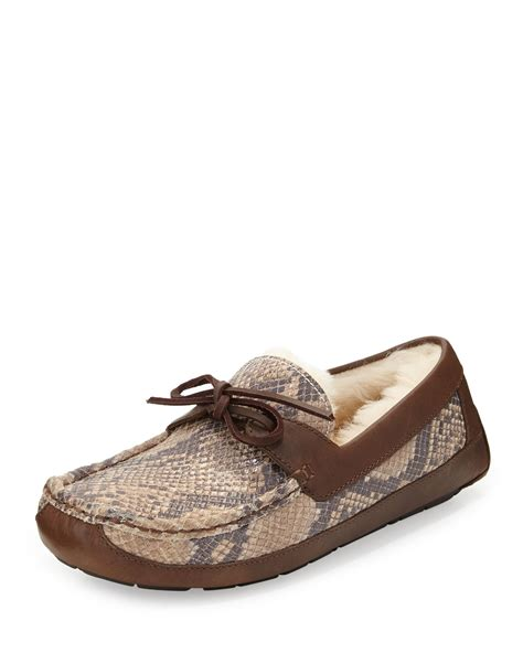 ugg leather slippers for ugg byron snake print leather slipper in animal for