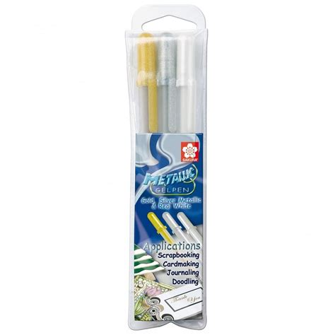 Metallic Gel Pen metallic gel pens pack of 3 craftyarts co uk