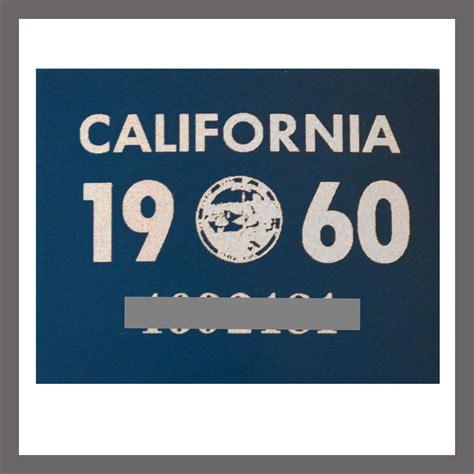 Sticker Plat California 1960 california yom dmv sticker tag for sale