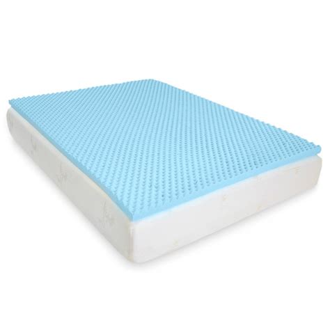gel bed topper egg crate gel infused memory foam mattress topper full
