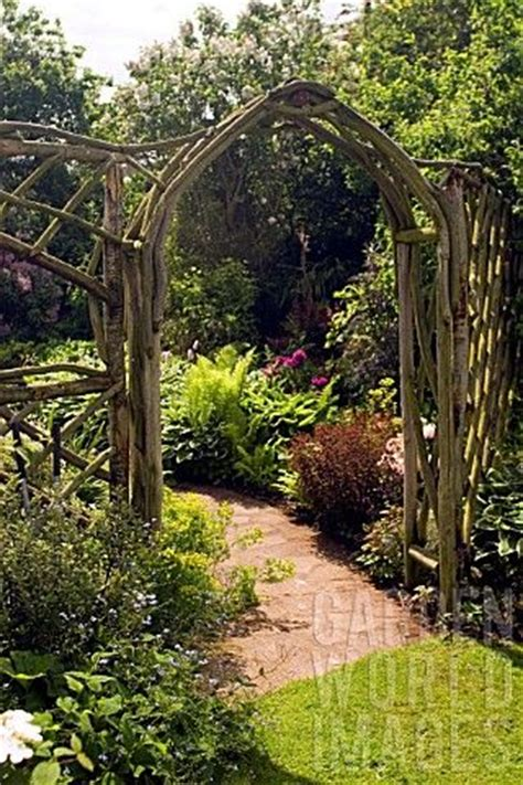 Garden Arches And Trellises Jly957 Rustic Wooden Arch And Trellis Work At Whit