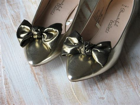 gold shoe clips old gold shoe bows gold shoe bow