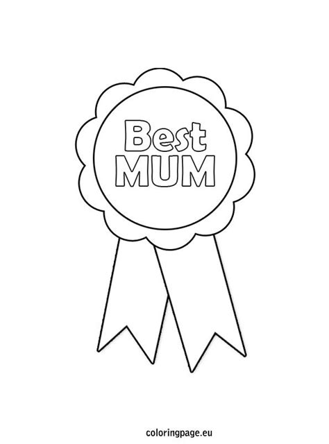 printable rosette templates mother s day rosette coloring page kayleigh pinterest