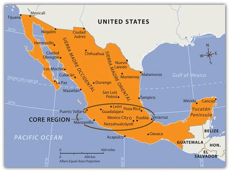 regions geo mexico the geography of mexico middle america