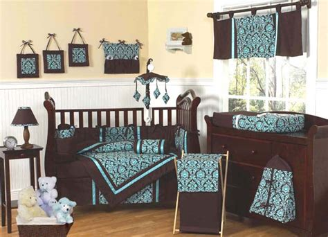 Brown And Blue Crib Bedding with New Blue And Brown Baby Infant Crib Bedding Set Ebay
