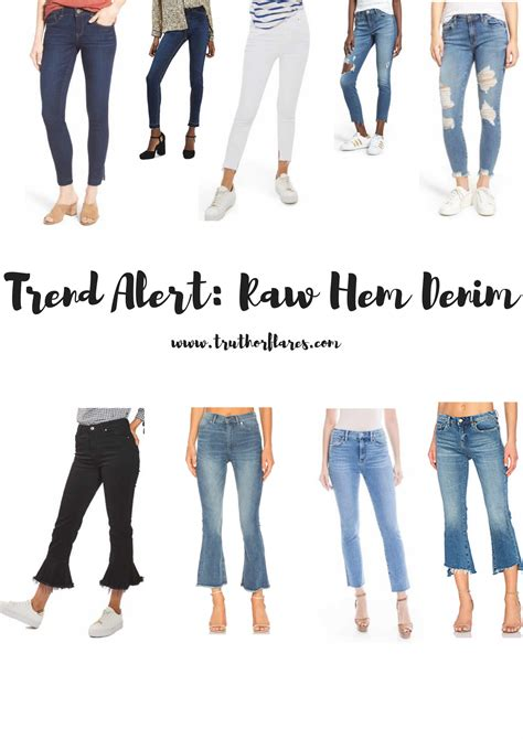 Trend Alert by Trend Alert Hem Denim Or Flares