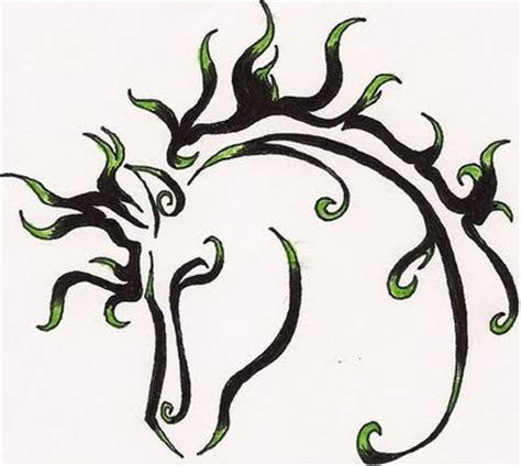 tribal horse tattoo designs tita tattoos tribal