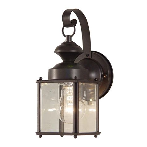 antique outdoor lighting shop volume international 11 in h antique bronze outdoor wall light at lowes com