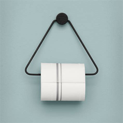 paper holder leo ferm living black toilet paper holder