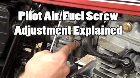 pilot airfuel screw adjustment explained youtube