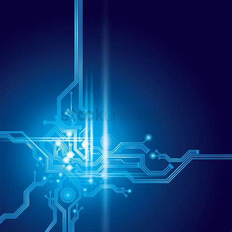 design pic circuit design on digital background vector image