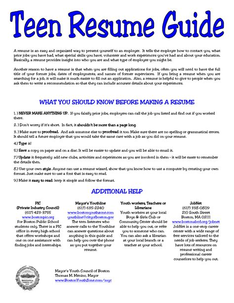 Resume Writing Youth 5 Resume For Sle Sle Resumes Sle Resumes Resume Exles