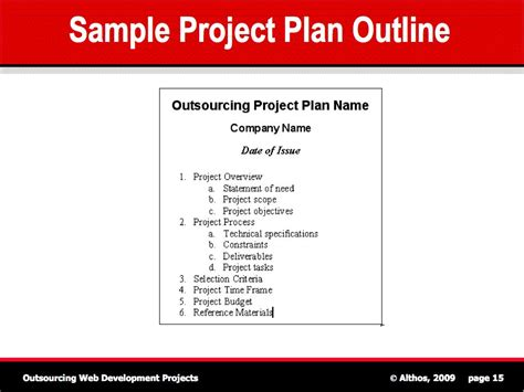 Project Plan Outline Beneficialholdings Info Project Outline Template Free